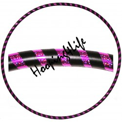 Hooping4Life Holographic Purple & Black weighted exercise & dance Hula Hoop