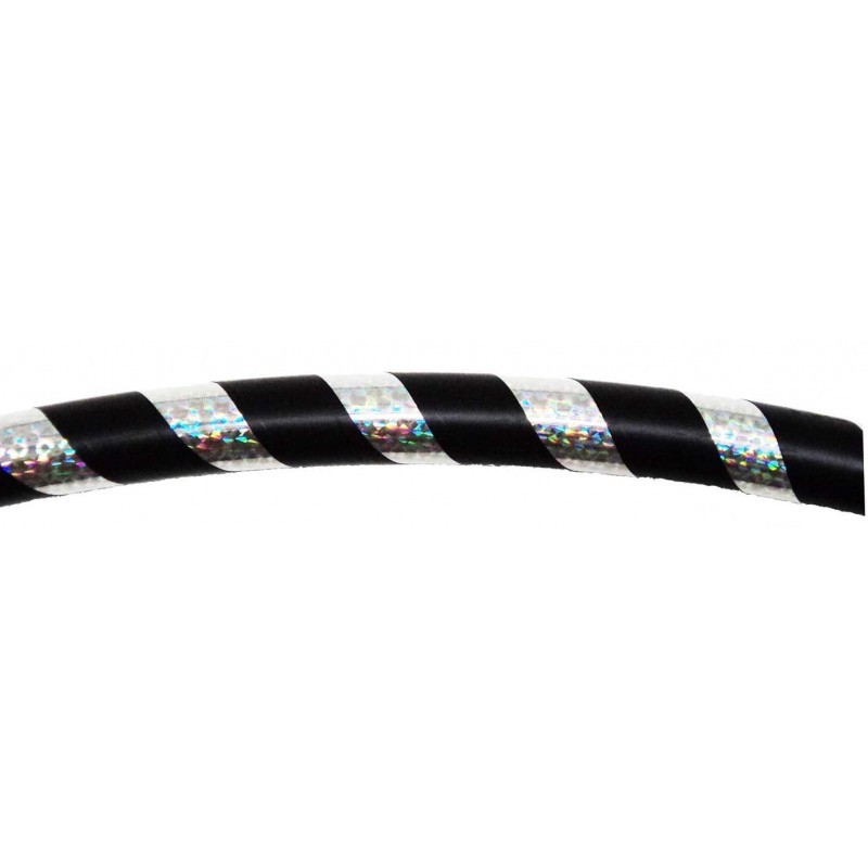 Hooping4Life Silver Rainbow & Black weighted exercise & dance Hula Hoop