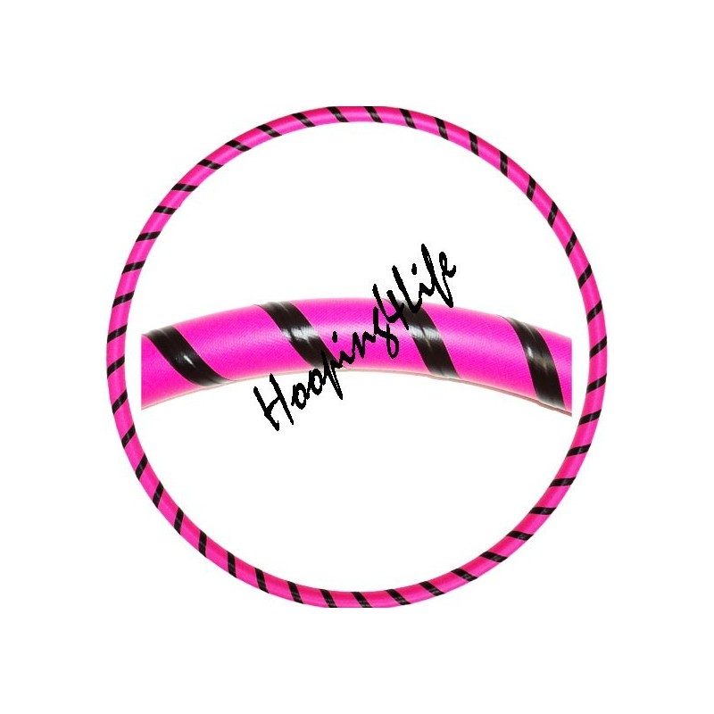Hooping4Life Pink & Black weighted exercise & dance Hula Hoop