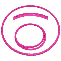 Hooping4Life Holographic Pink & Fluorescent Pink Travel weighted exercise & dance Hula Hoop