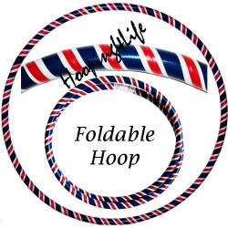 Hooping4Life Foldable Union Jack weighted exercise & dance Travel Hula Hoop