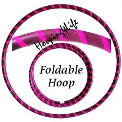 Hooping4Life Foldable Violet & Fluorescent Pink weighted exercise & dance Travel Hula Hoop