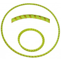 Hooping4Life Foldable Holographic Yellow & Fluorescent Yellow Travel weighted exercise & dance Hula Hoop