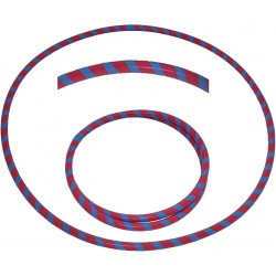 Hooping4Life Foldable Red & Blue Travel weighted exercise & dance Hula Hoop
