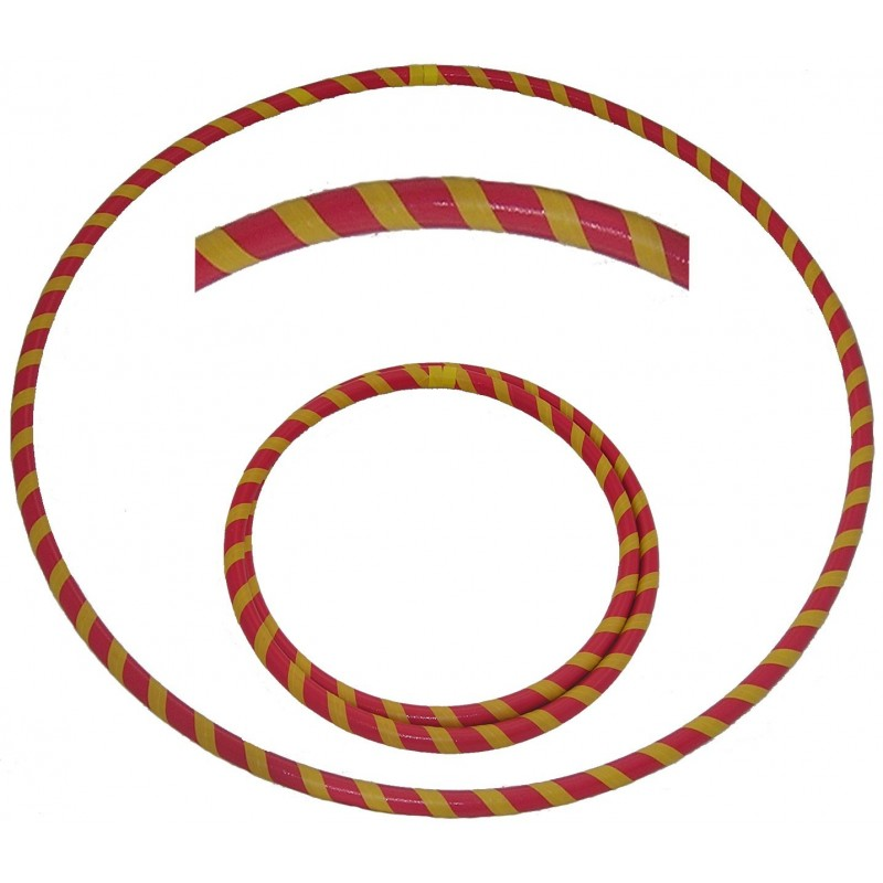 Hooping4Life Foldable Red & Yellow Travel weighted exercise & dance Hula Hoop