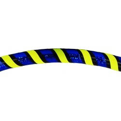 Hooping4Life Holo Blue & Fluo Yellow weighted exercise & dance Hula Hoop