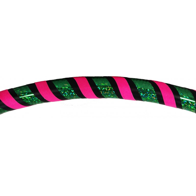 Hooping4Life Holo Green & Fluo Pink weighted exercise & dance Hula Hoop