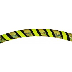 Hooping4Life Holo Yellow & Fluo Yellow weighted exercise & dance Hula Hoop