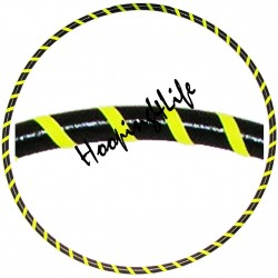 Hooping4Life Black & Fluo Yellow LIGHT WEIGHT exercise & dance Hula Hoop