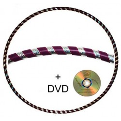 Hooping4Life Silver Rainbow & Purple weighted exercise & dance Hula Hoop